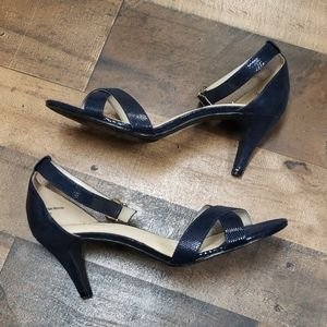 Kelly and Kate Navy Strap Shoes Sz 8.5